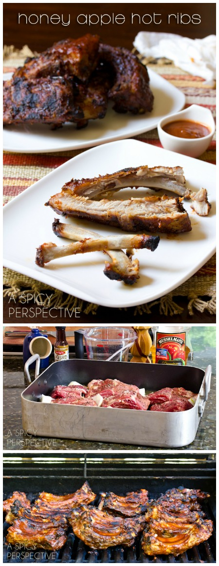 Honey Apple Babyback Ribs Recipe on ASpicyPerspective.com #ribs