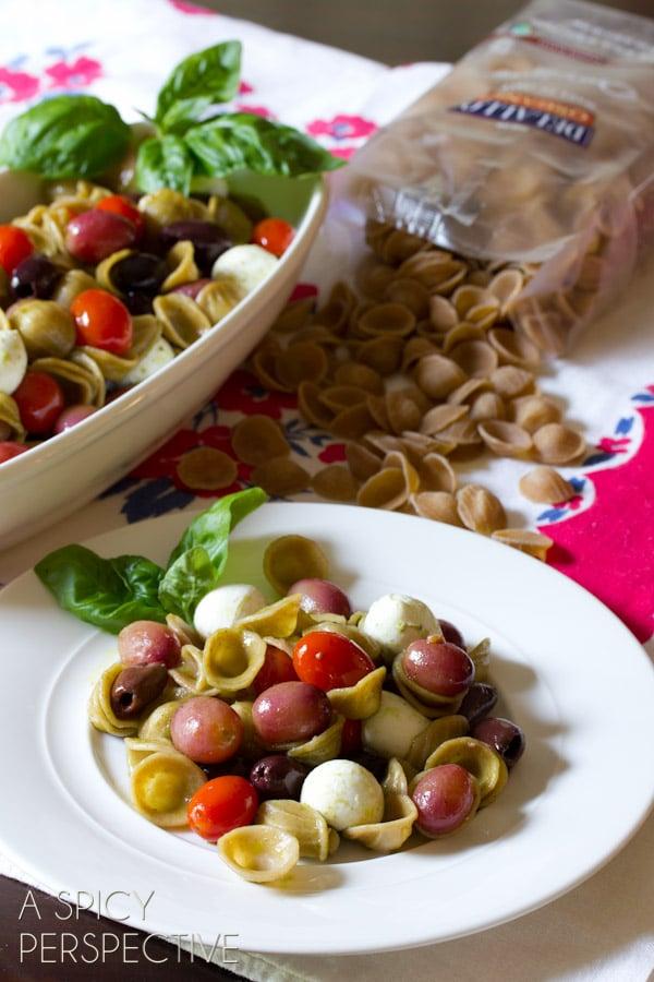 Orecchiette pasta salad