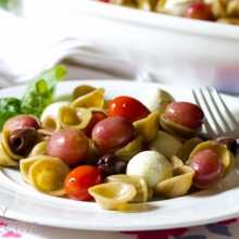 Orecchiette Pasta Salad with Roasted Grapes and Tomatoes