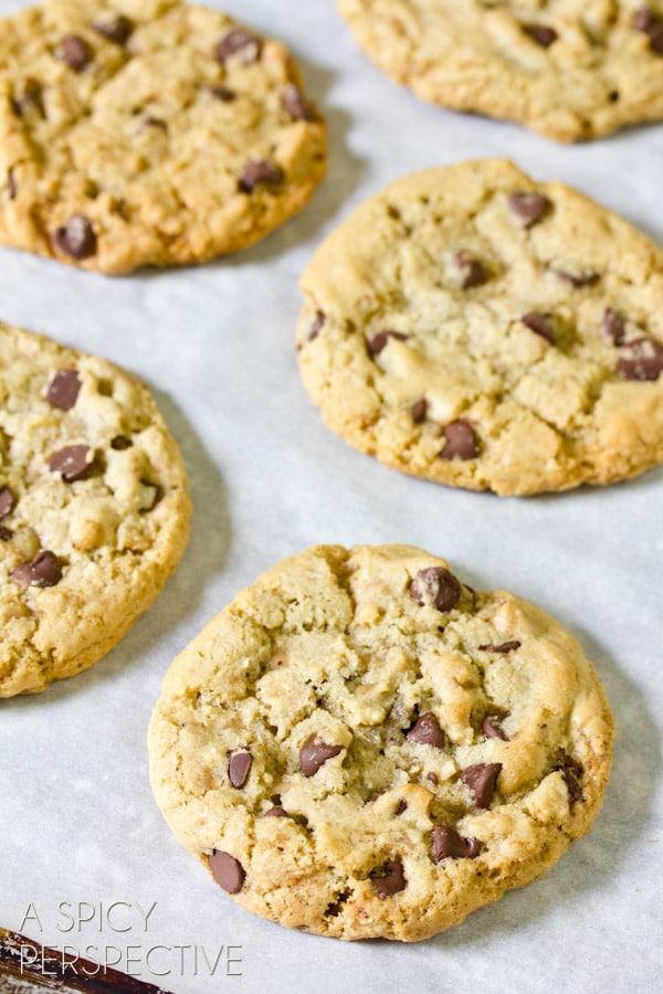The Best Chocolate Chip Cookie Recipe   ASpicyPerspective.com #chocolatechip #cookies #recipe