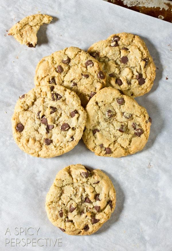 Best Chocolate Chip Cookie Recipe   ASpicyPerspective.com #chocolatechip #cookies #recipe