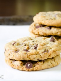 Toffee Chocolate Chip Cookies | ASpicyPerspective.com #chocolatechip #cookies #recipe