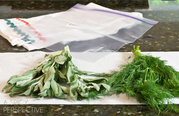 How to Keep Fresh Herbs | ASpicyPerspective.com #howto #herbs #cooking