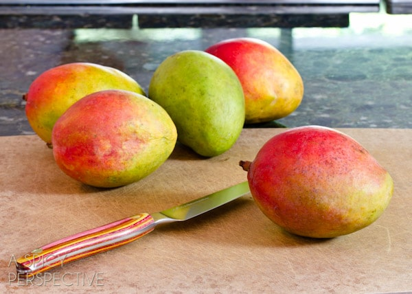 How to Cut a Mango | ASpicyPerspective.com #howto #cookingtips #mango