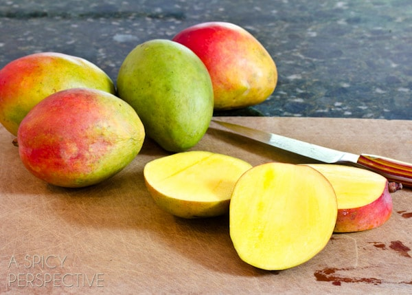 How to Handle a Mango | ASpicyPerspective.com #howto #cookingtips #mango