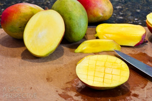 How to Peel and Cut a Mango | ASpicyPerspective.com #howto #cookingtips #mango