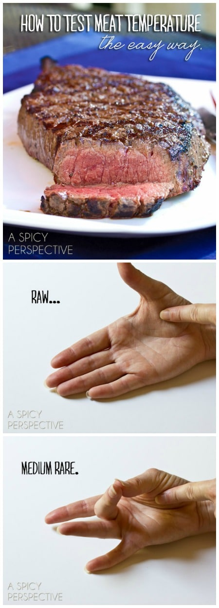 Meat Test for Steak on ASpicyPerspective.com #howto