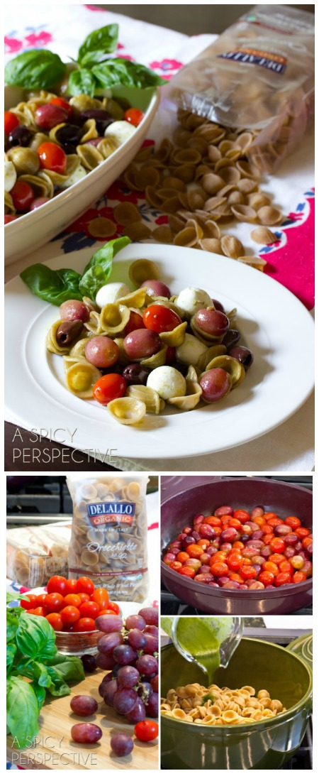 Orecchiette with Roasted Grapes and Tomatoes