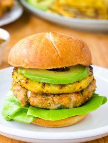 Ahi Tuna Burgers with Grilled Pineapple Recipe