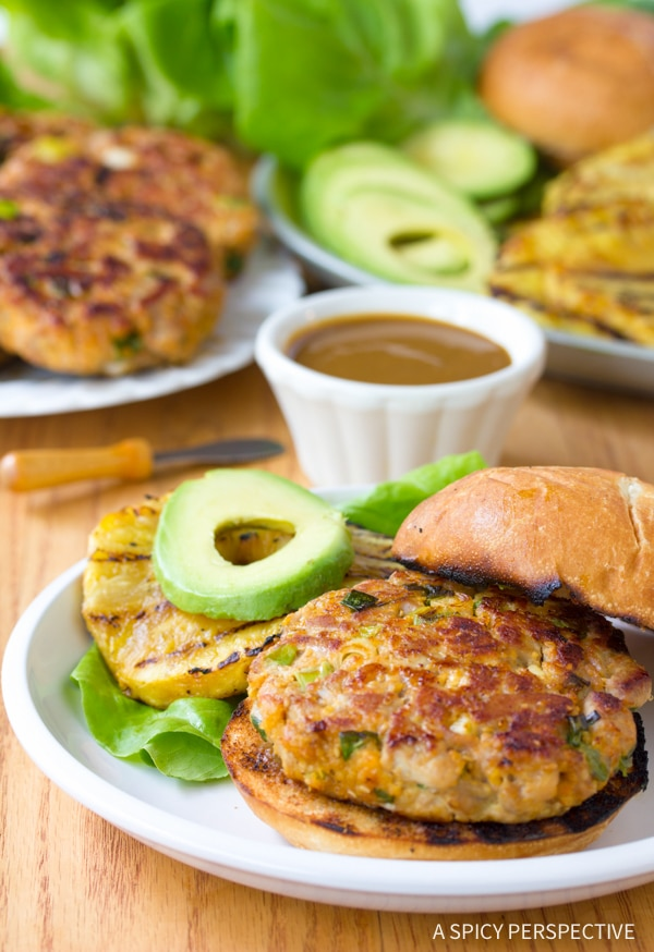 Awesome Ahi Tuna Burgers with Grilled Pineapple Recipe