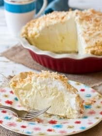 Airy Coconut Cream Pie | ASpicyPerspective.com #pie #recipe #coconut