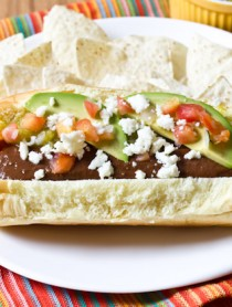 Green Chile Mole Hot Dog | ASpicyPerspective.com #summer #recipe #hotdog #mexican