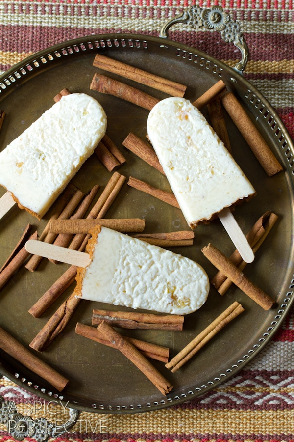"""Mexican """"Arroz con Leche"""" Rice Pudding Pops 