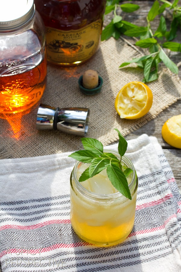 """""""The Champ"""" Bourbon Cocktail - Whiskey Sour   ASpicyPerspective.com #cocktail #summer #whiskey #bourbon"""