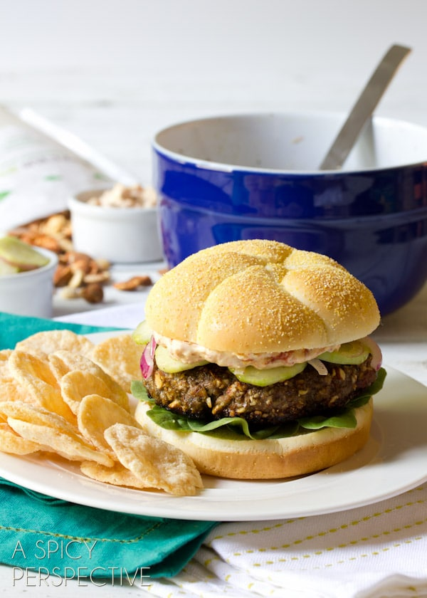 Healthy Mediterranean Burgers | ASpicyPerspective.com #burgers #hamburgers #summer