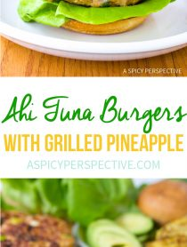 Amazing Ahi Tuna Burgers with Grilled Pineapple Recipe