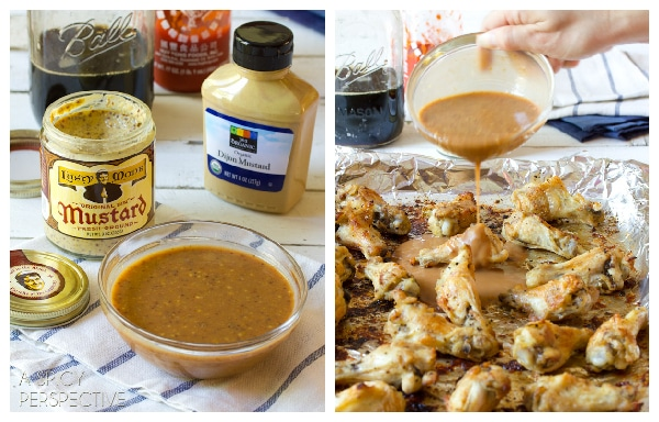 How to make Oven Chicken Wing with Apple Onion Dip   ASpicyPerspective.com #chicken #recipe #party #appetizer