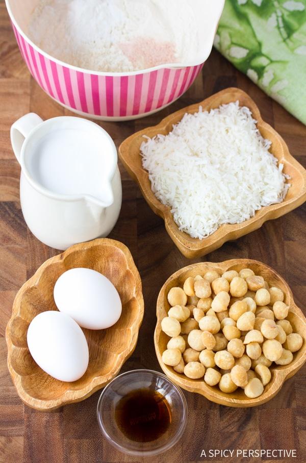 Making - Coconut Macadamia Nut Waffles Recipe