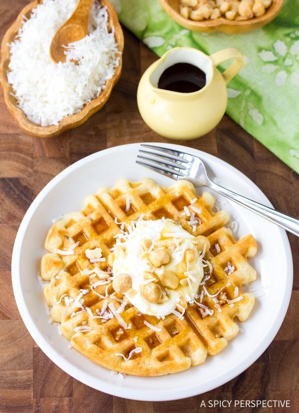 Best Coconut Macadamia Nut Waffles Recipe