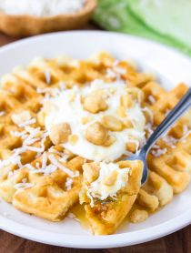 Coconut Macadamia Nut Waffles Recipe