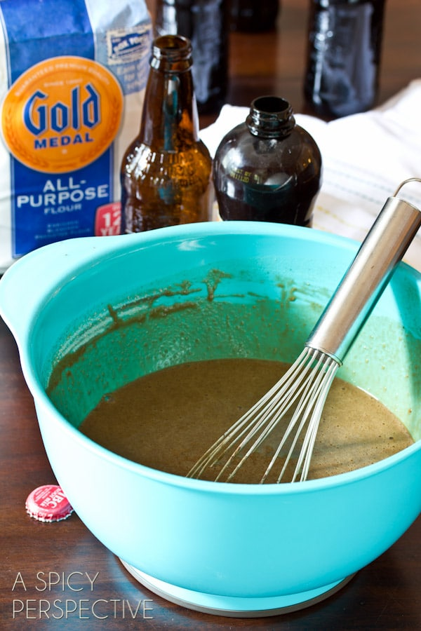 Making Root Beer Float Cakes