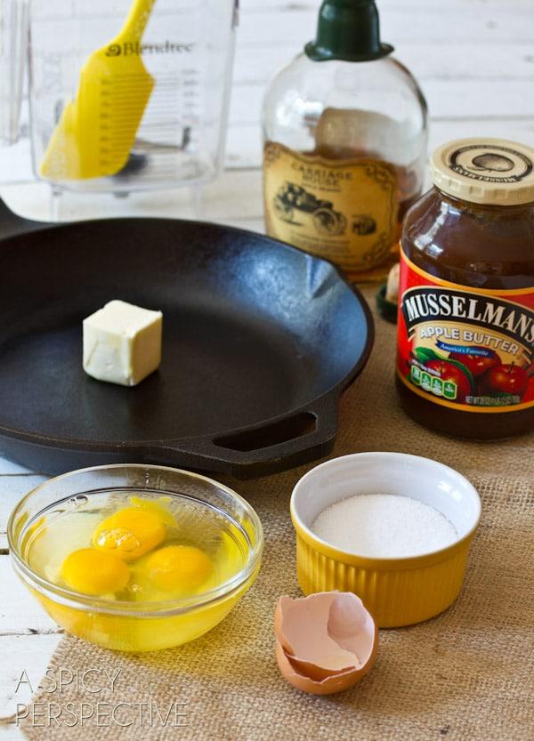 Apple Dutch Baby   ASpicyPerspective.com #apple #dutchbaby #breakfast