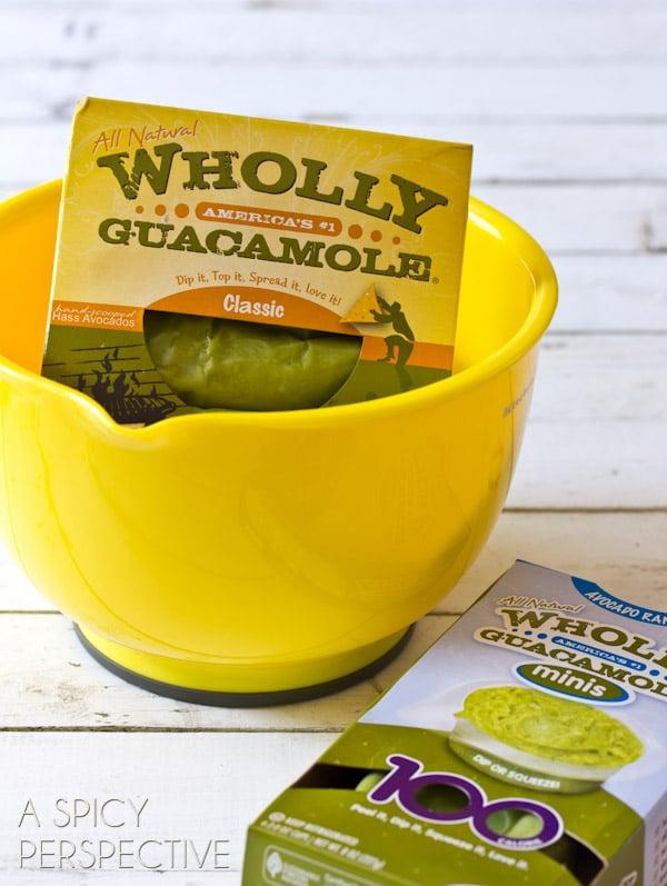Wholly Guacamole | ASpicyPerspective.com #avocado #breakfast #guacamole #savory