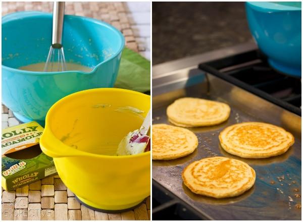 How to Make Savory Lime Corn Cakes with Avocado Cream | ASpicyPerspective.com #avocado #breakfast #guacamole #savory