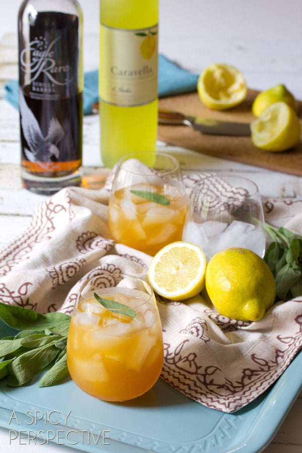 Bourbon Cocktail | ASpicyPerspective.com #cocktails #summer #recipe