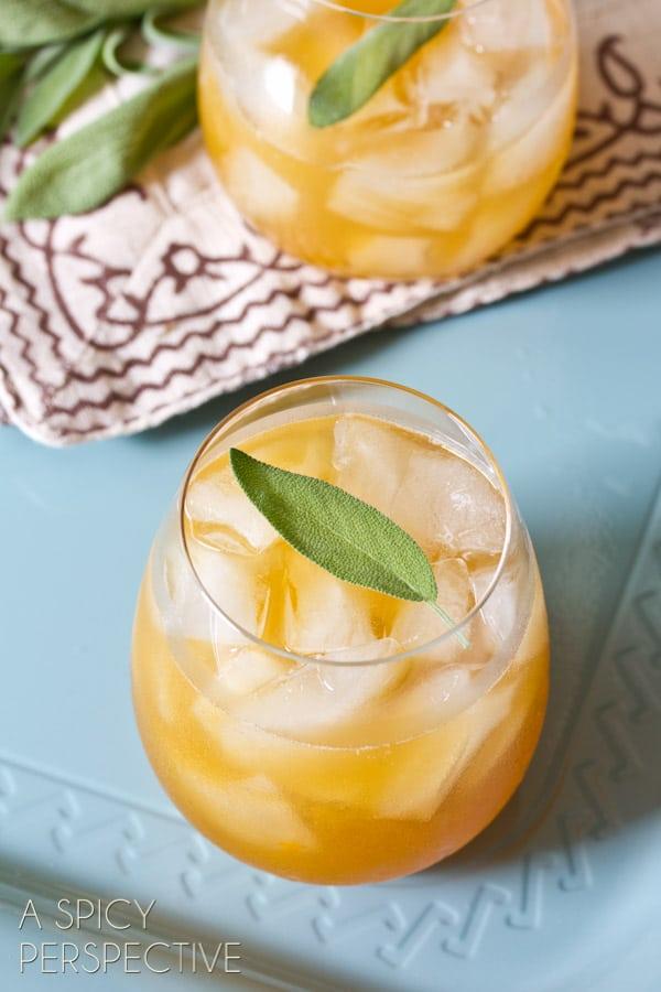 """Indian Summer"" Bourbon Cocktail   ASpicyPerspective.com #cocktails #summer #recipe"