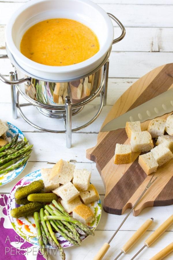 Pesto Cheese Fondue Recipes Aspicyperspective Com Fondue Cheese Pesto Delallo