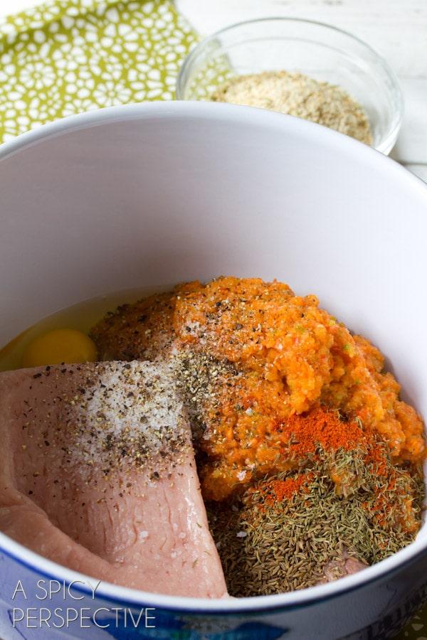 Making the Best Meatloaf Recipe... ever!   ASpicyPerspective.com #meatloaf #recipe #dinner