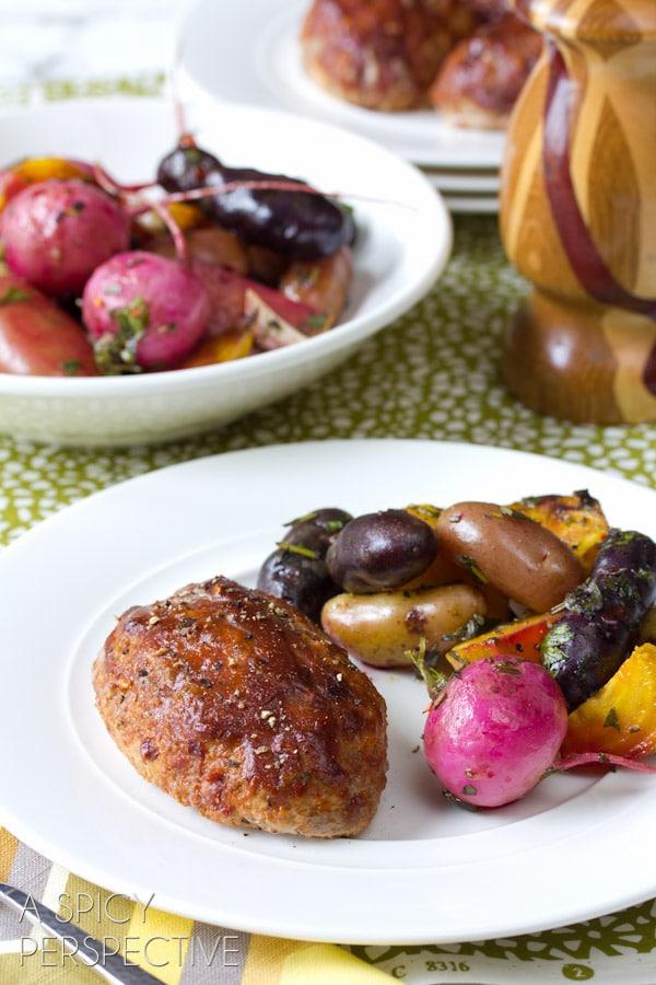 Best Healthy Meatloaf Recipe... ever!   ASpicyPerspective.com #meatloaf #recipe #dinner