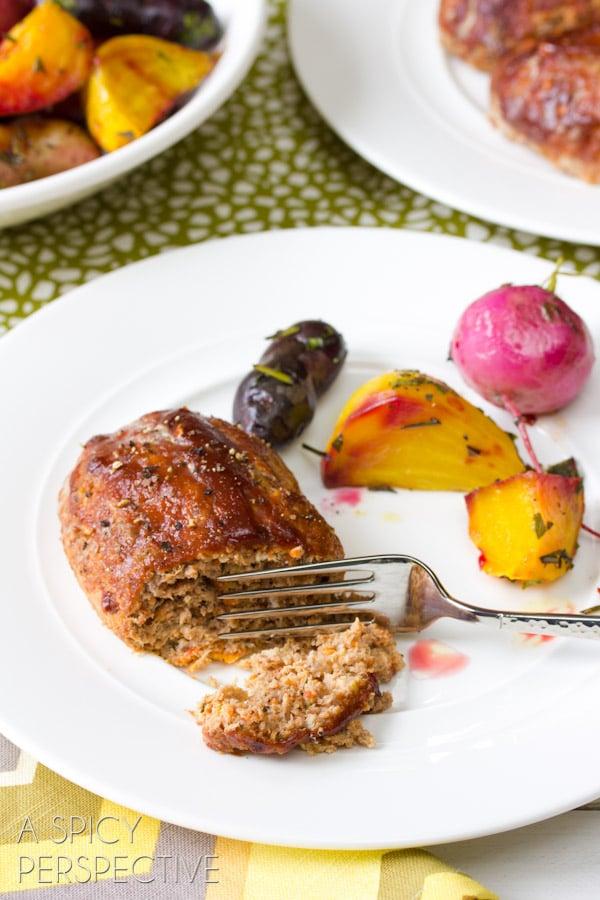 Healthy Meatloaf Recipe... ever!   ASpicyPerspective.com #meatloaf #recipe #dinner