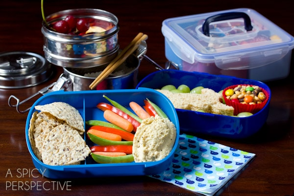 Healthy Lunch Ideas - #Bento | ASpicyPerspective.com #backtoschool #lunch #schoollunch #lunchbox