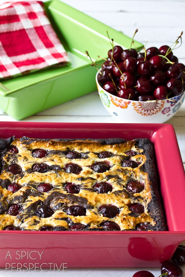 BEST Brownie Recipe with Chocolate Cherries & Coconut Swirls! | ASpicyPerspective.com #brownies #fall #chocolate