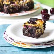 cherry coconut brownies