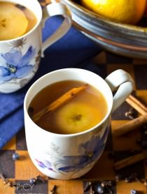 #SlowCooker Wassail Recipe (Mulled Cider) ASpicyPerspective.com #fall #apple #party #recipe