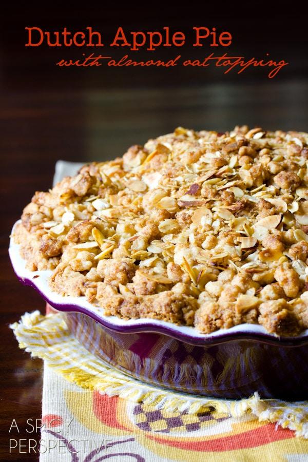 Classic Dutch Apple Pie   ASpicyPerspective.com #apple #applepie #fall #recipe