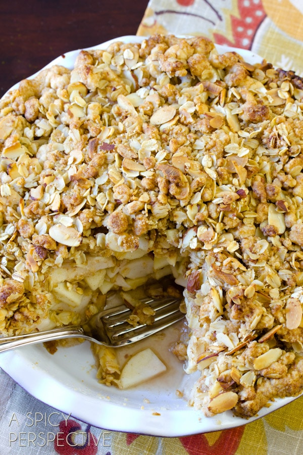 Dutch Apple Pie | ASpicyPerspective.com #apple #applepie #fall #recipe