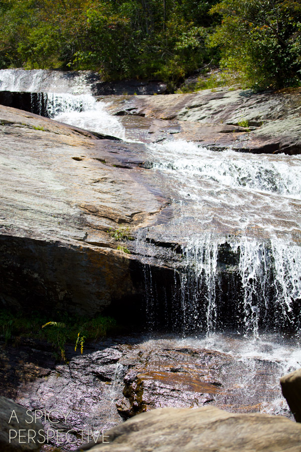 Waterfalls -Things to Do in Asheville NC | ASpicyPerspective.com #travel #asheville #visitasheville #fall