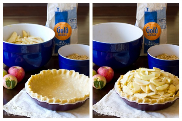 Making Dutch Apple Pie | ASpicyPerspective.com #apple #applepie #fall #recipe