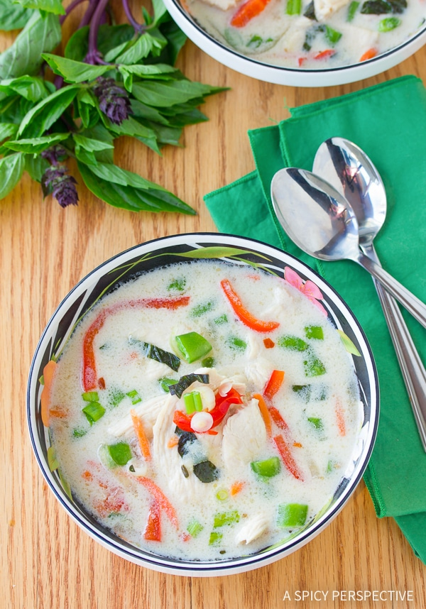 Lean Spicy Thai Chicken Soup Recipe