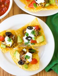 Beef Nachos with Slow Cooker Chili Con Carne Recipe