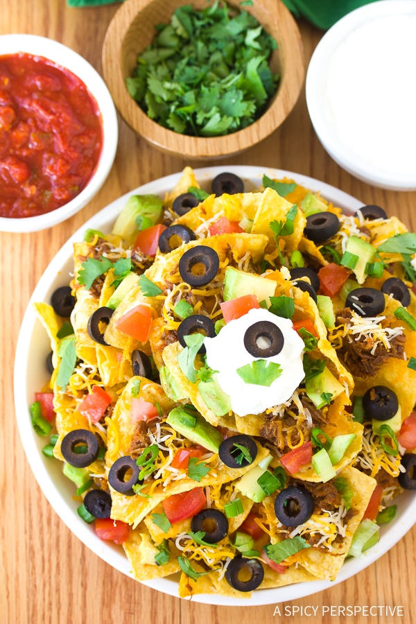 Perfect Beef Nachos with Slow Cooker Chili Con Carne Recipe