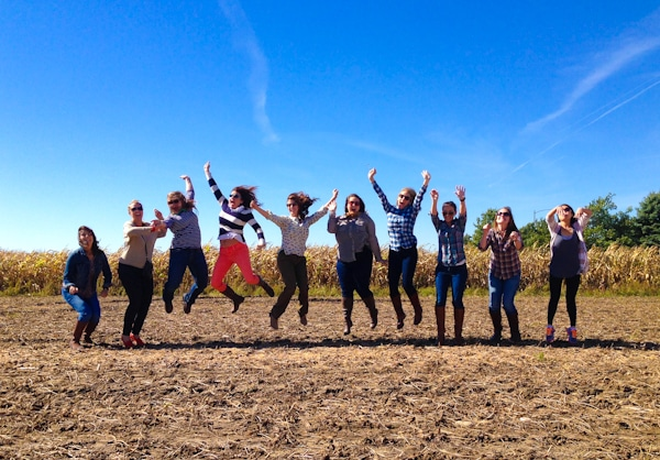 Jumping for Joy in the Corn Field