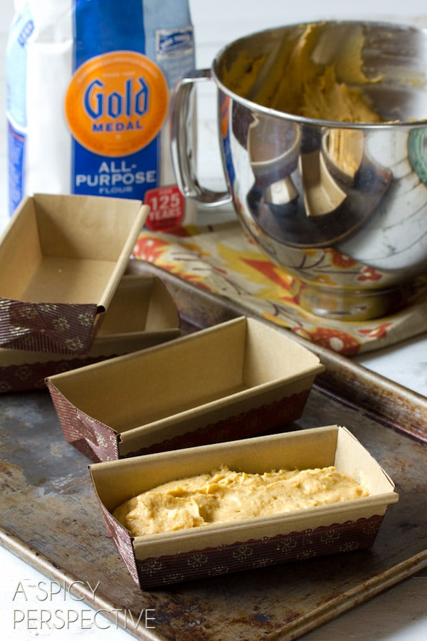 How to make Pumpkin Pound Cake with Chocolate Ganache   ASpicyPerspective.com #pumpkin #fall #poundcake #chocolate