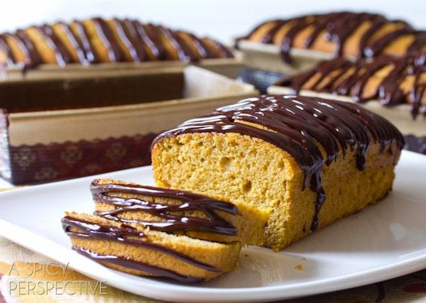 Pumpkin Pound Cake with Chocolate Ganache | A Spicy Perspective
