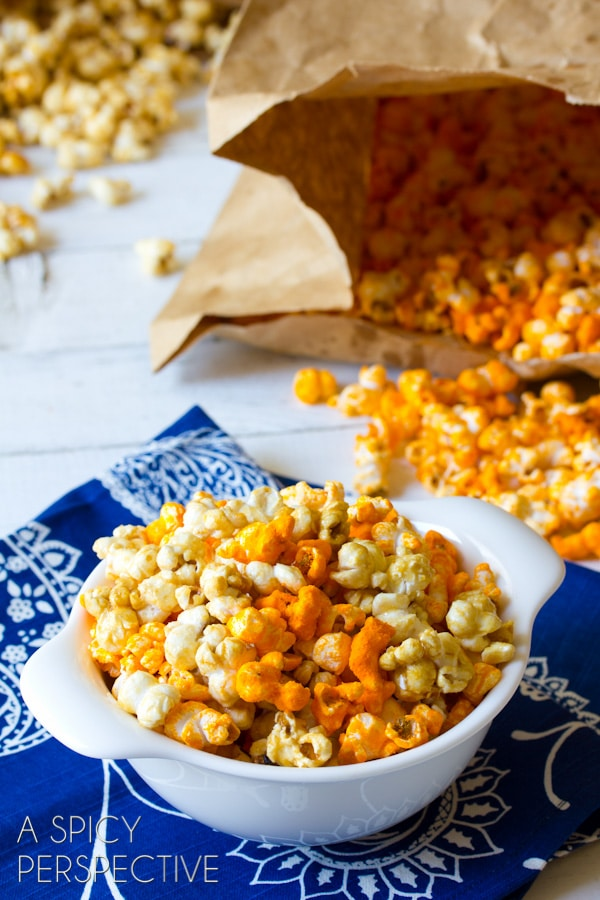 Spicy Cheese-Caramel Popcorn Recipes — Dishmaps