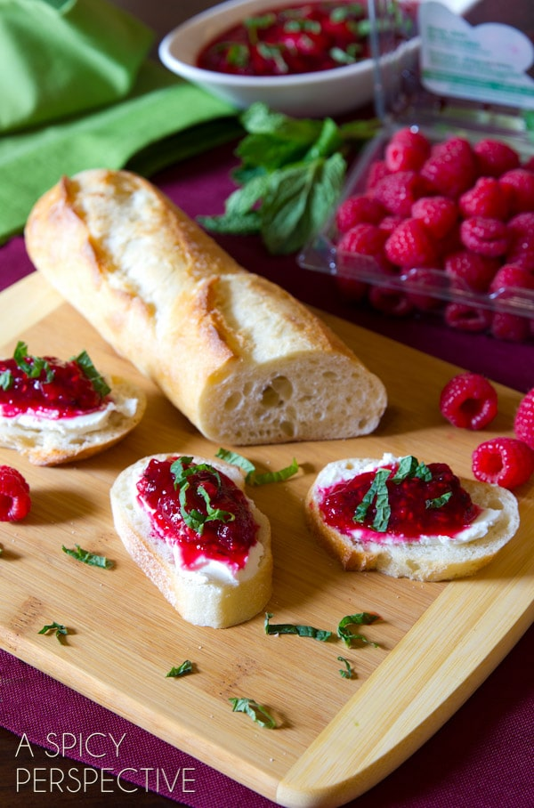 FAB Raspberry & Cranberry Sauce for #Thanksgiving also makes a marvelous spread to serve with bread and cheese! #holidays #cranberry #raspberry #recipe